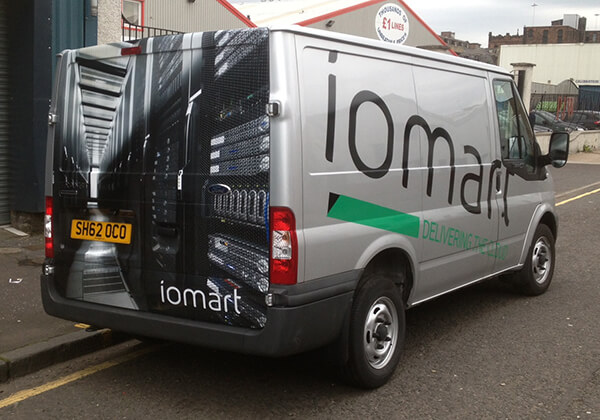 iomart-van-sign - Glasgow Creative