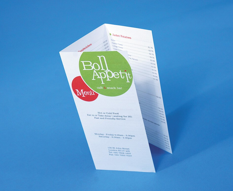BON APPETIT SAMPLE DESIGN - Glasgow Creative