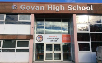 Recently completed signs: Govan High School