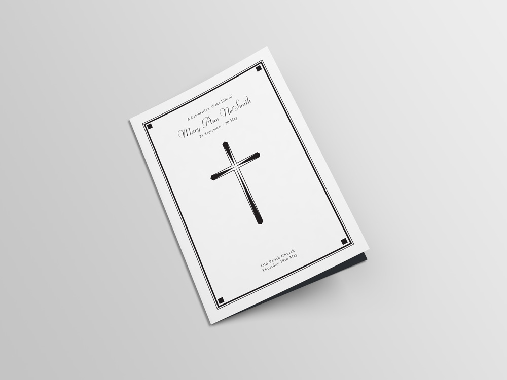 Funeral Sample Card 3 - Glasgow Creative