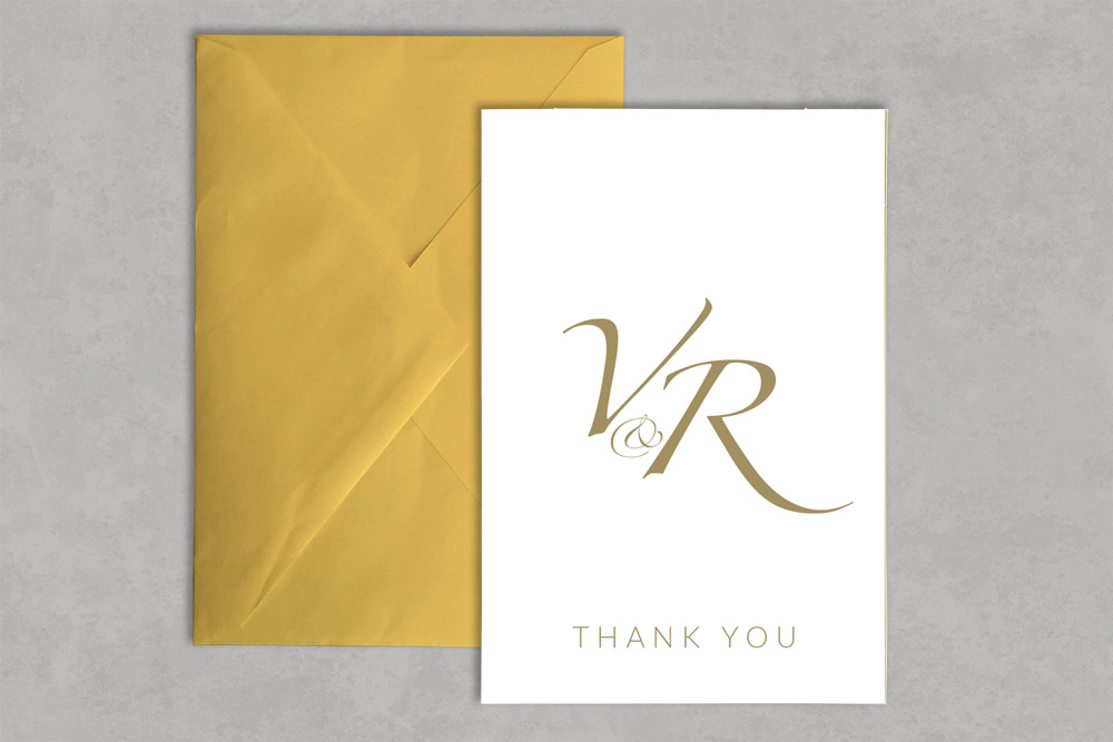 Wedding Thank You Card 3 - Glasgow Creative