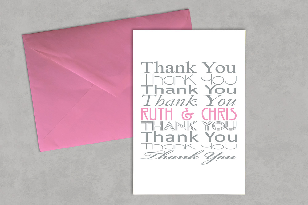 Wedding Thank You Card 2 - Glasgow Creative