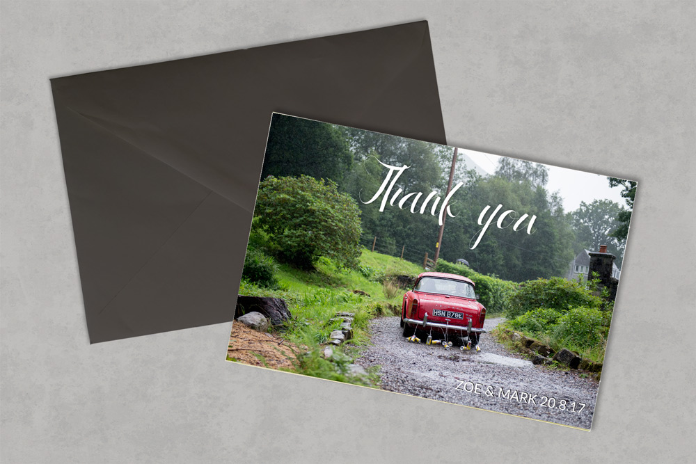 Wedding Thank You Card - Glasgow Creative